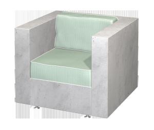 Concrete Armchair